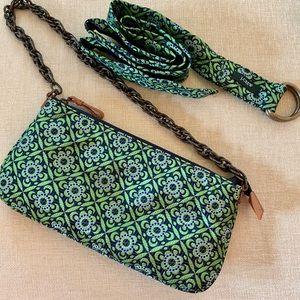 JCrew Silk zip Clutch plus matching Belt